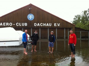 Hochwasser Flugplatz Dachau