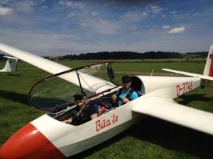 Simons erster Schulstart als Fluglehrer